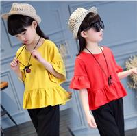 Áo cotton thun cho bé gái từ 3-16 tuổi V312