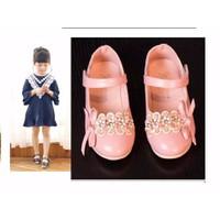 Giày bé gái búp bê đính hoa