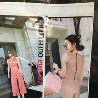 SET BÔ QUẦN ỐNG RỘNG_ ÁO CROP TOP SANG CHẢNH