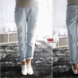 Quần bầu jeans bụi cá tính dành cho mẹ bầu sành điệu