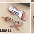 Giày sandal quai bính gót vuông 3p