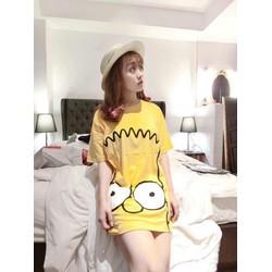 Áo thun nữ họa tiết Simpson
