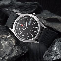 Đồng hồ dây vải Swiss Army 2 lịch AL82 ,