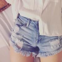 Quần short jeans rách cực chất