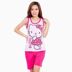 Bộ đồ short ngắn Hello Kitty - Hồng - CIRINO