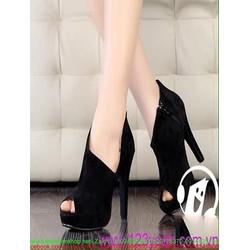 Giày cao gót hở mũi khoét 1 bên sành điệu trẻ trung GCN247