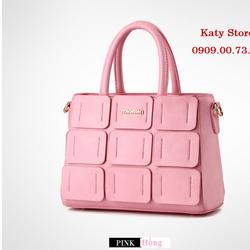Túi xách đắp Hàn Quốc màu hồng - Hàng nhập - Y hình