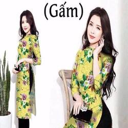Áo dài nữ cách tân hoa loang màu nổi bật xinh đẹp AD33