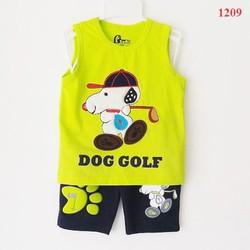 Bộ thun Subi hình chú chó đánh golf