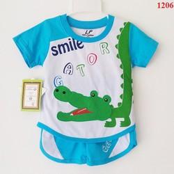 Bộ thun thêu cá sấu