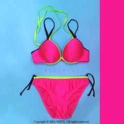 Bikini 2 mảnh áo cúp màu hồng xinh xắn