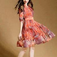 Đầm hoa  - D068