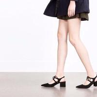HÀNG NHẬP CAO CẤP - Giày cao gót đế vuông cách điệu