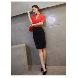 Sét áo style và chân váy cách điệu TH08521