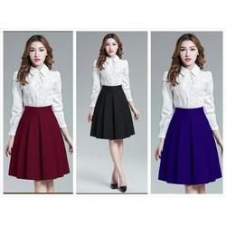 Chân váy xòe thời trang có 2 túi  - V04116075