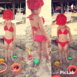 Hàng Thái - Đồ Bơi Cho Bé Gái Dễ Thương BG028 từ 1 đến 8 tuổi