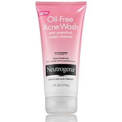 SRM Neutrogena Oil Free Acne Wash Pink Grapefruit Cream Cleanser 177ml