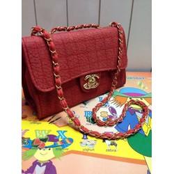Túi xách Chanel Chần Chỉ Da Vân Khóa vàng