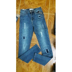 Quần jean nữ dài rách thời trang
