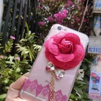 Ốp lưng hoa hồng cẩn pha lê cho iphone5,5s, 6,6s , 6plus, 6s plus