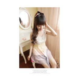 Đuôi tóc giả xoăn nhẹ Hàn Quốc