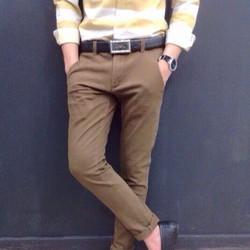 Quần kaki nam vải bố fom chuẩn cực đẹp