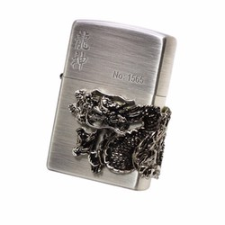 Bật lửa Zippo chính hãng phiên bản đặc biệt Rồng mạ bạc nổi