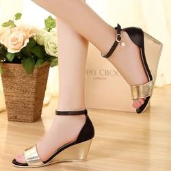 Giày đế xuồng khóa đá thời trang - LN143