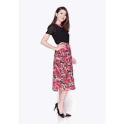 Đầm Vintage Chân Váy Hoa Phong Cách Trẻ Trung