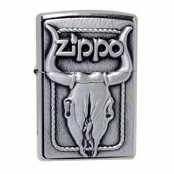 Bật Lửa Zippo Hình Đầu Trâu Khắc Nổi