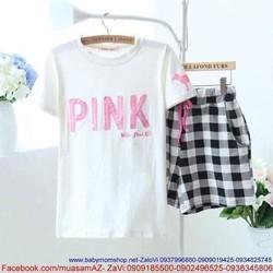 Đồ bộ ngủ pink và quần short sành điệu đáng iu NN269