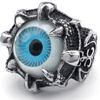 Nhẫn nam titan cá tính mắt xanh