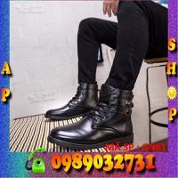 Giày bốt nam đen hàn quốc - ap shop - GN61