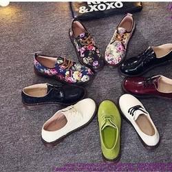 Giày oxford nữ da bóng phong cách trẻ trung năng động GUBB155