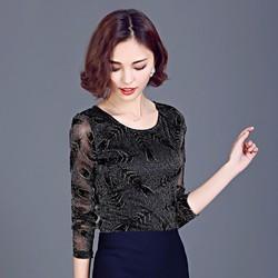 áo hoạ tiết lông công hàng KOREA cao cấp