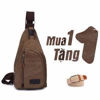 Túi đeo chéo trước Fashi3860 190k khuyến mại thắt lưng vải 80K