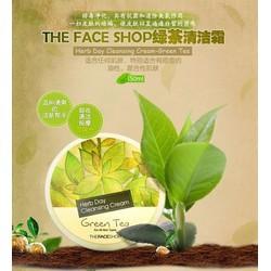 THEFACESHOP - KEM TẨY TRANG HERB DAY CLEANSING CREAM GREEN TEA