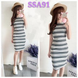 [HOT] Đầm body sọc - SSA91