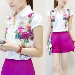 Set quần và áo họa tiết hoa