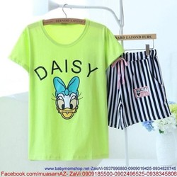 Sét đồ bộ nữ short hình vịt donald daisy xì teen thun cotton NN272