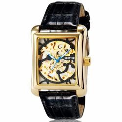 Đồng hồ nam SEWOR CƠ dây da chạy TỰ ĐỘNG SW202