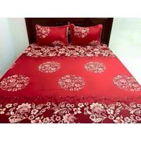 bộ ga giường cầu mây đỏ 160x200
