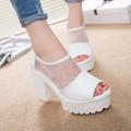 Giày Sandai phối lưới gót cao thời trang - LN149