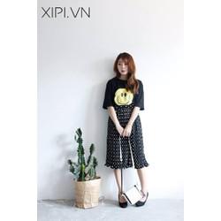 Chân váy Midi chấm bi - Hàng Quảng Châu cao cấp