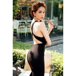 Đầm ôm body sexy hở lưng Ngọc Trinh D480