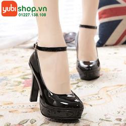 Giày cao gót nữ da bóng