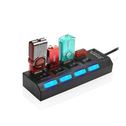 Hub USB 4 cổng hình ổ điện có công tắc
