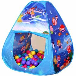 Lều bóng nhà chơi của bé hình tam giác xanh + 100 bóng CBH-01-A