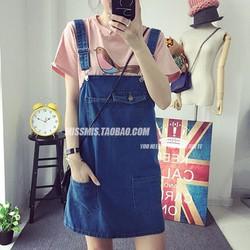 FREE SHIP Váy yếm jean