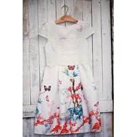 SỈ - LẺ ĐẦM THIẾT KẾ : Đầm xòe ren trắng hoa đào